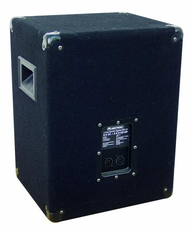 omnitronic dx 1022 3 wege box 400 w. Black Bedroom Furniture Sets. Home Design Ideas